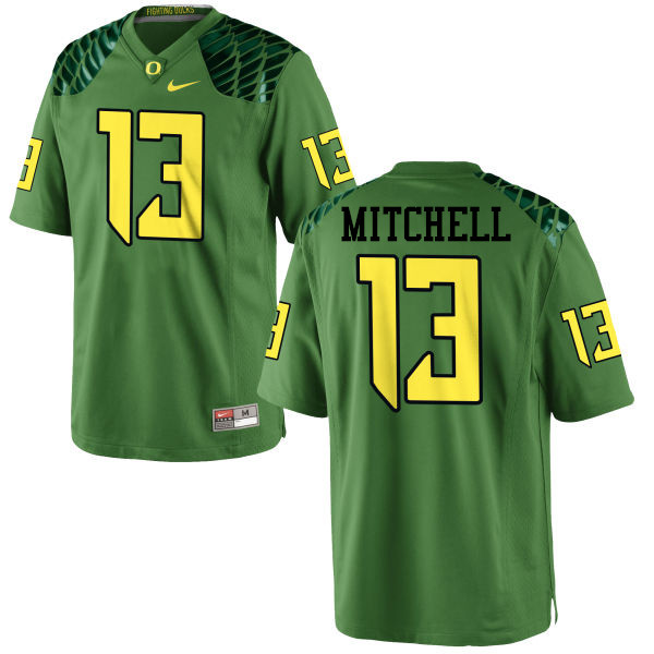 Men #13 Dillon Mitchell Oregon Ducks College Football Jerseys-Apple Green