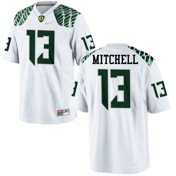 Men #13 Dillon Mitchell Oregon Ducks College Football Jerseys-White