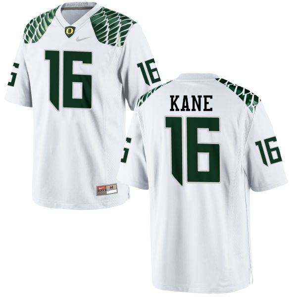 Men #16 Dylan Kane Oregon Ducks College Football Jerseys-White