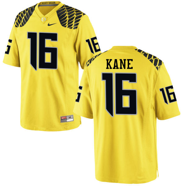 Men #16 Dylan Kane Oregon Ducks College Football Jerseys-Yellow