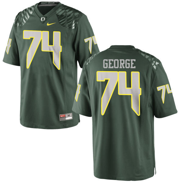 Men #74 Elijah George Oregon Ducks College Football Jerseys-Green