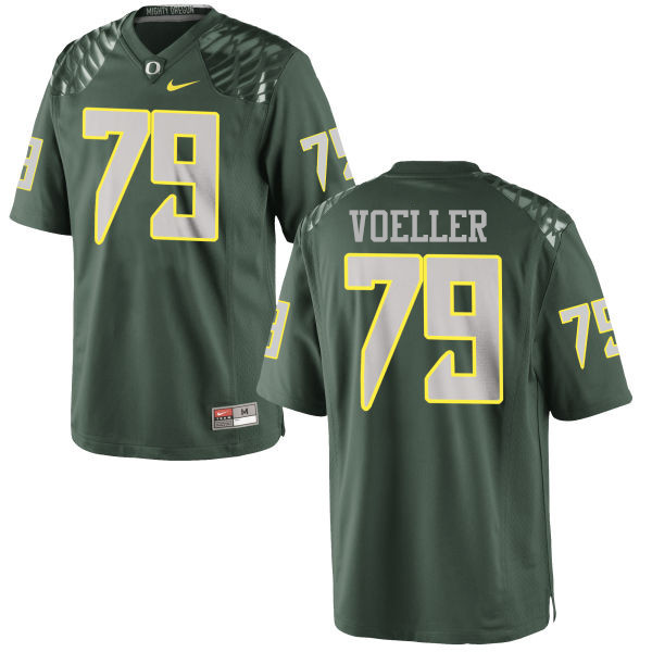 Men #79 Evan Voeller Oregon Ducks College Football Jerseys-Green