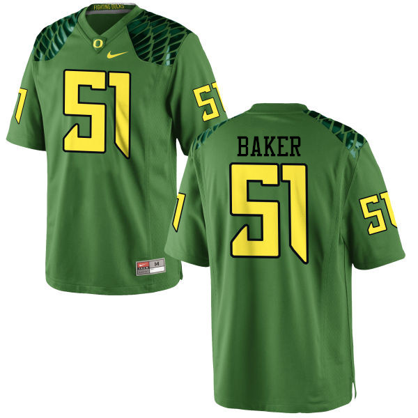 Men #51 Gary Baker Oregon Ducks College Football Jerseys-Apple Green