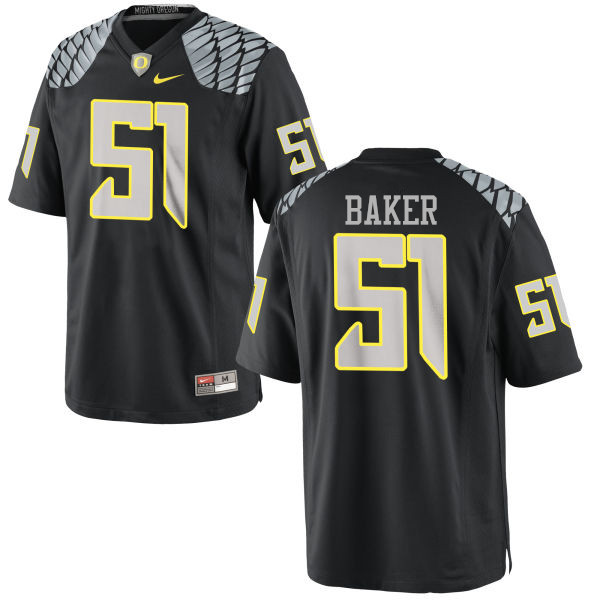 Men #51 Gary Baker Oregon Ducks College Football Jerseys-Black