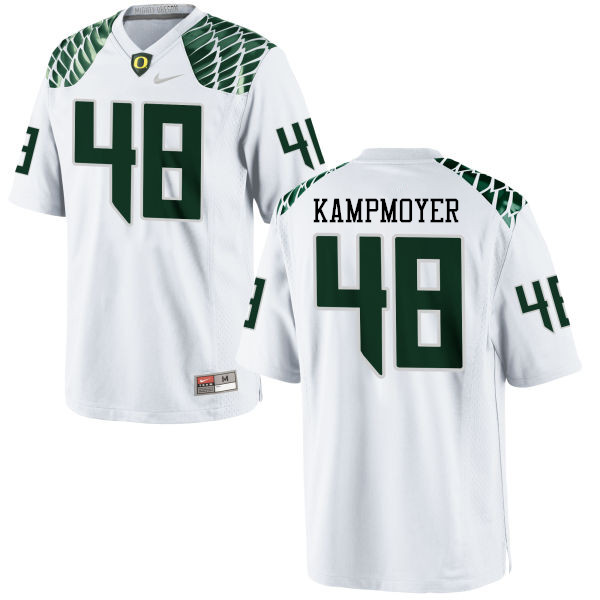 Men #48 Hunter Kampmoyer Oregon Ducks College Football Jerseys-White