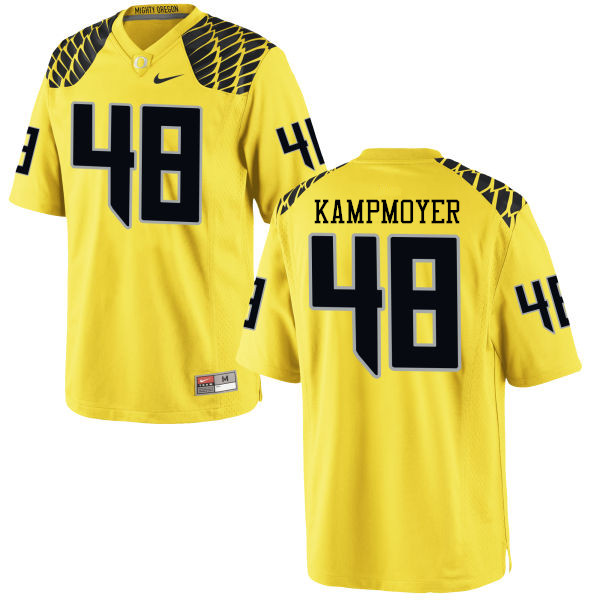 Men #48 Hunter Kampmoyer Oregon Ducks College Football Jerseys-Yellow