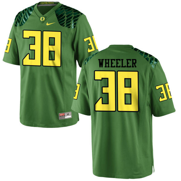 Men #38 Ian Wheeler Oregon Ducks College Football Jerseys-Apple Green