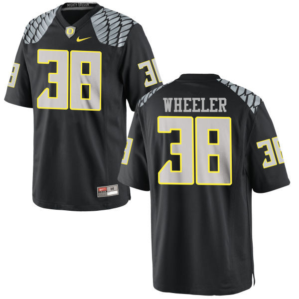 Men #38 Ian Wheeler Oregon Ducks College Football Jerseys-Black