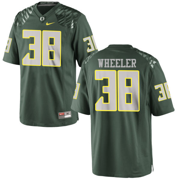 Men #38 Ian Wheeler Oregon Ducks College Football Jerseys-Green