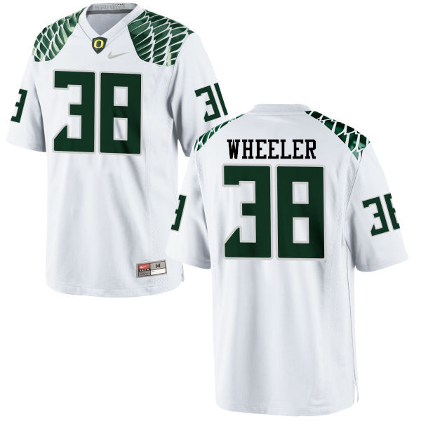 Men #38 Ian Wheeler Oregon Ducks College Football Jerseys-White