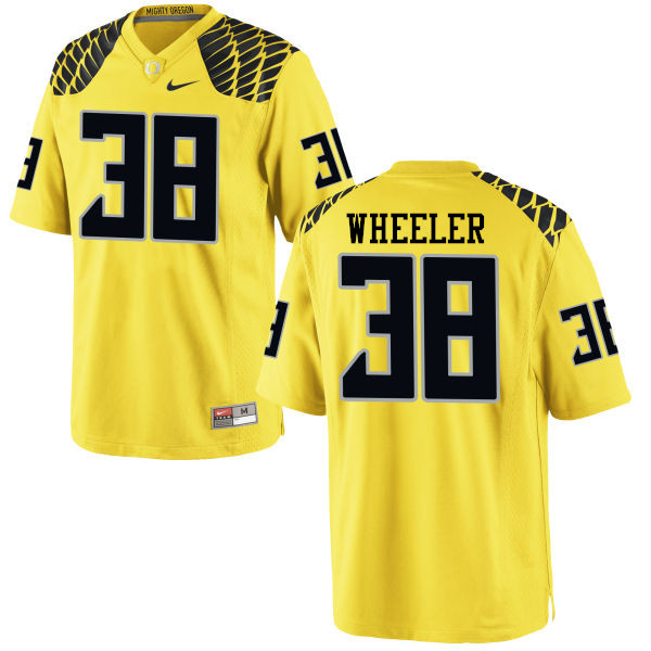 Men #38 Ian Wheeler Oregon Ducks College Football Jerseys-Yellow