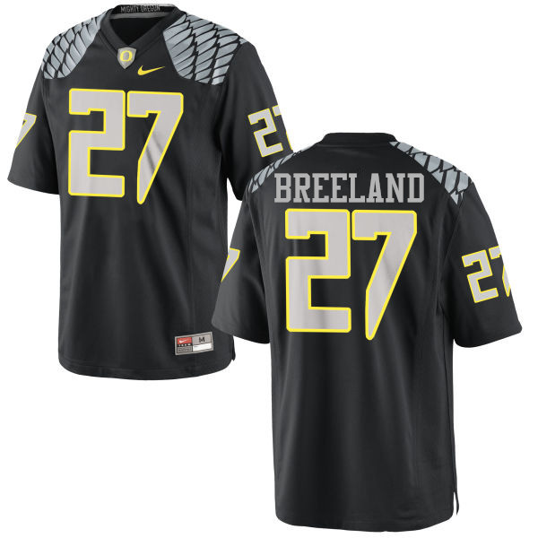 Men #27 Jacob Breeland Oregon Ducks College Football Jerseys-Black