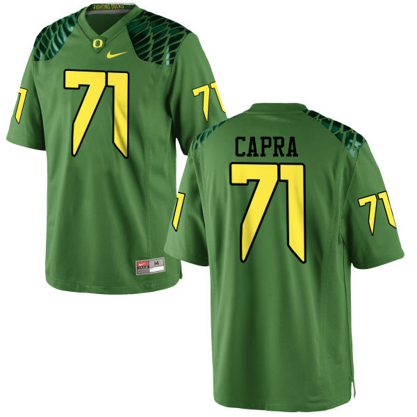 Men #71 Jacob Capra Oregon Ducks College Football Jerseys-Apple Green