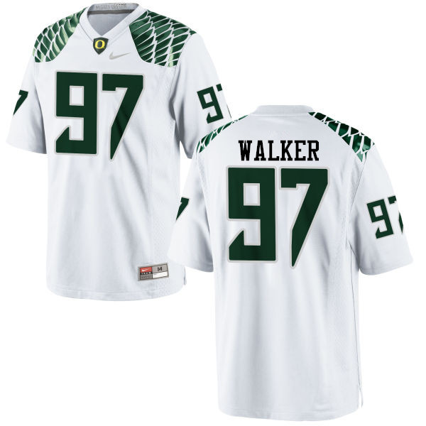 Men #97 Jalontae Walker Oregon Ducks College Football Jerseys-White