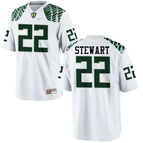 Men #22 Jihree Stewart Oregon Ducks College Football Jerseys-White