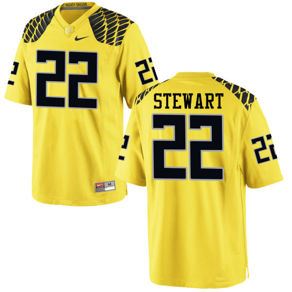 Men #22 Jihree Stewart Oregon Ducks College Football Jerseys-Yellow