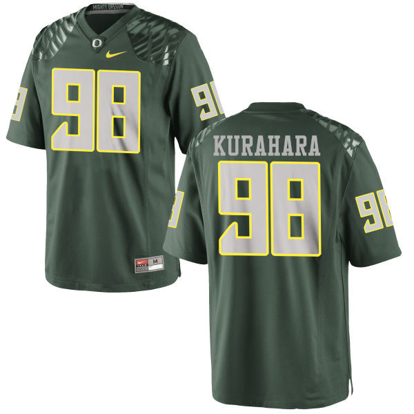 Men #98 Jordan Kurahara Oregon Ducks College Football Jerseys-Green