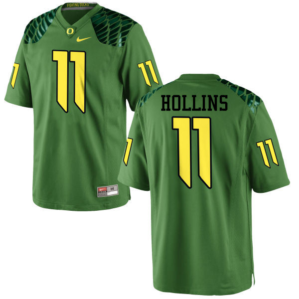 Men #11 Justin Hollins Oregon Ducks College Football Jerseys-Apple Green