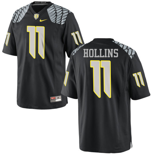 Men #11 Justin Hollins Oregon Ducks College Football Jerseys-Black