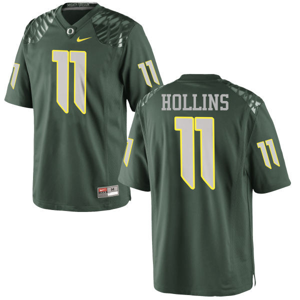 Men #11 Justin Hollins Oregon Ducks College Football Jerseys-Green