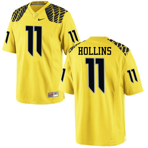 Men #11 Justin Hollins Oregon Ducks College Football Jerseys-Yellow