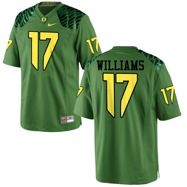 Men #17 Juwaan Williams Oregon Ducks College Football Jerseys-Apple Green