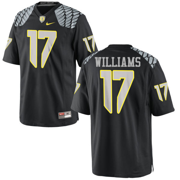 Men #17 Juwaan Williams Oregon Ducks College Football Jerseys-Black