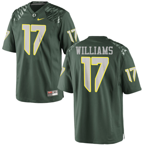 Men #17 Juwaan Williams Oregon Ducks College Football Jerseys-Green