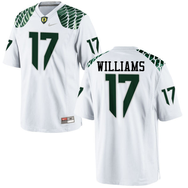 Men #17 Juwaan Williams Oregon Ducks College Football Jerseys-White