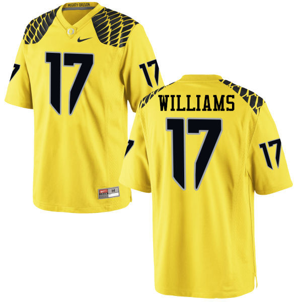 Men #17 Juwaan Williams Oregon Ducks College Football Jerseys-Yellow