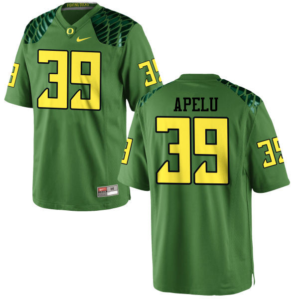 Men #39 Kaulana Apelu Oregon Ducks College Football Jerseys-Apple Green