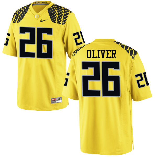 Men #26 Khalil Oliver Oregon Ducks College Football Jerseys-Yellow