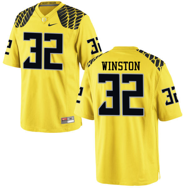 Men #32 La'Mar Winston Oregon Ducks College Football Jerseys-Yellow