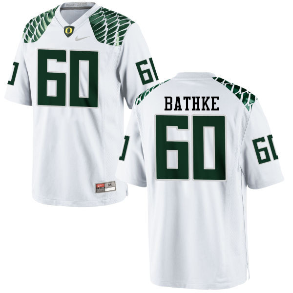 Men #60 Logan Bathke Oregon Ducks College Football Jerseys-White
