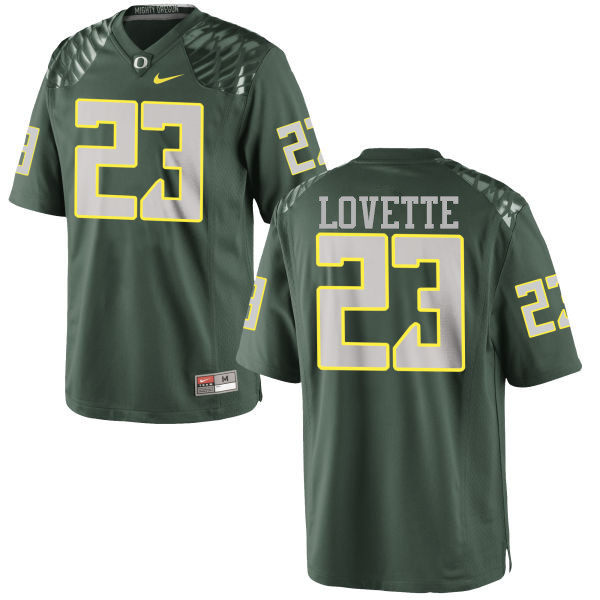Men #23 Malik Lovette Oregon Ducks College Football Jerseys-Green