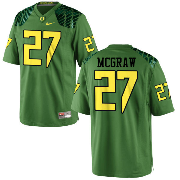 Men #27 Mattrell McGraw Oregon Ducks College Football Jerseys-Apple Green