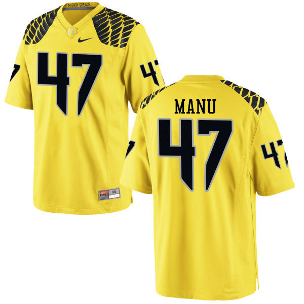 Men #47 Rex Manu Oregon Ducks College Football Jerseys-Yellow