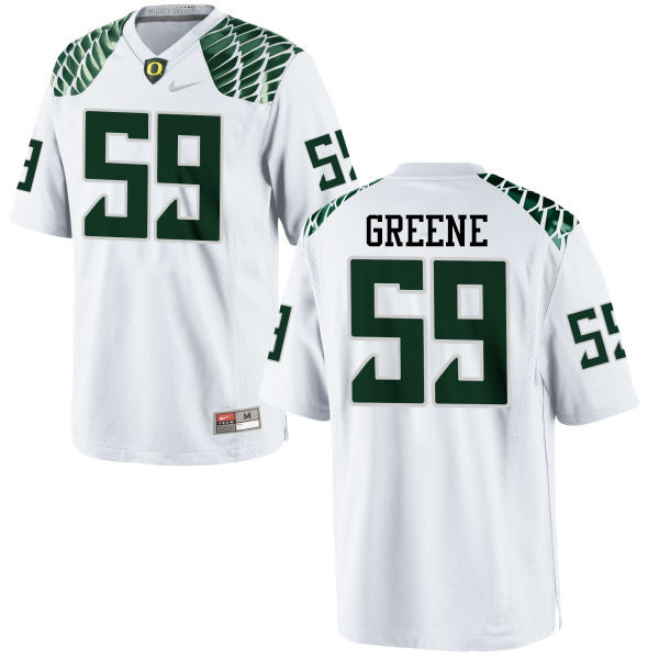 Men #59 Riley Greene Oregon Ducks College Football Jerseys-White