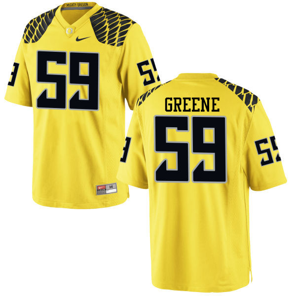 Men #59 Riley Greene Oregon Ducks College Football Jerseys-Yellow