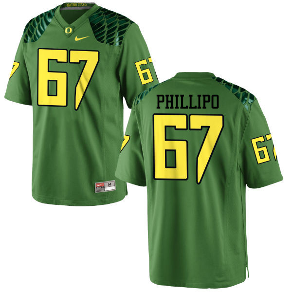 Men #67 Ryan Phillipo Oregon Ducks College Football Jerseys-Apple Green