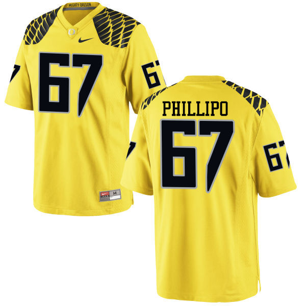Men #67 Ryan Phillipo Oregon Ducks College Football Jerseys-Yellow