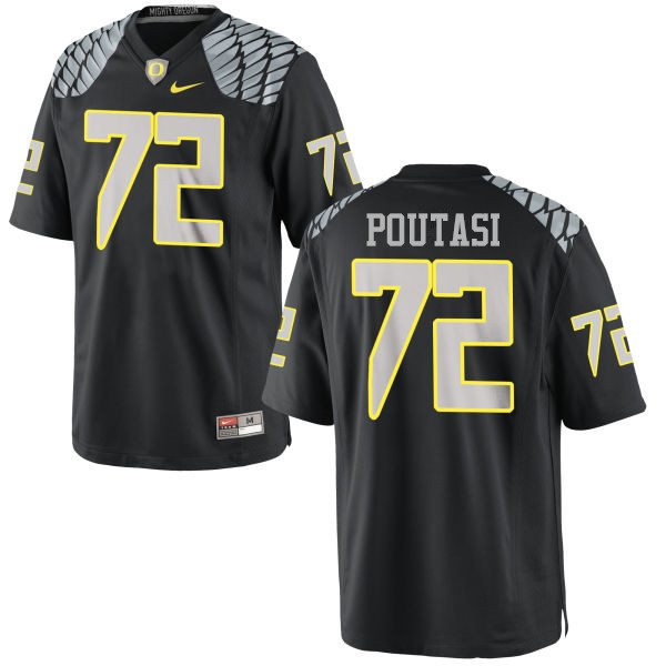 Men #72 Sam Poutasi Oregon Ducks College Football Jerseys-Black
