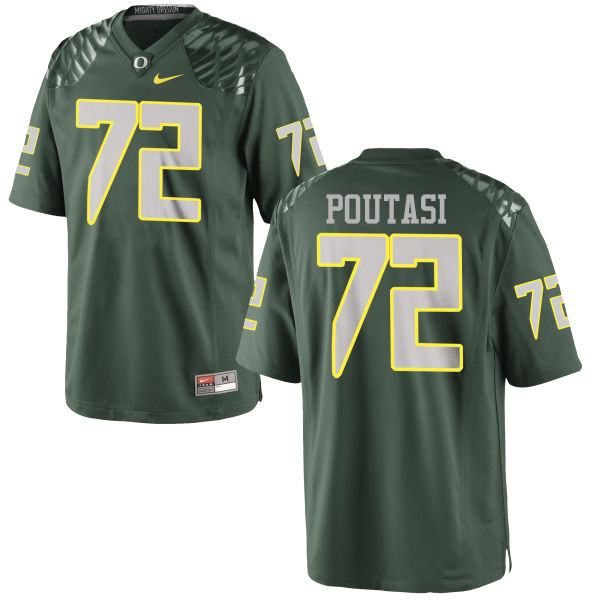 Men #72 Sam Poutasi Oregon Ducks College Football Jerseys-Green