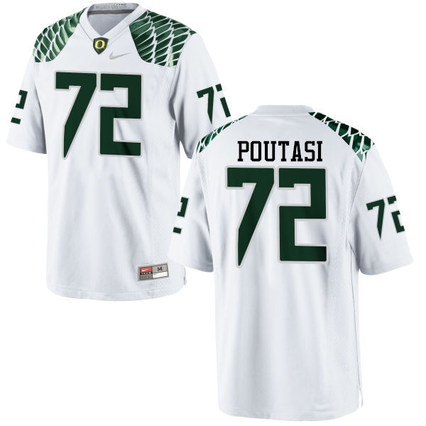 Men #72 Sam Poutasi Oregon Ducks College Football Jerseys-White