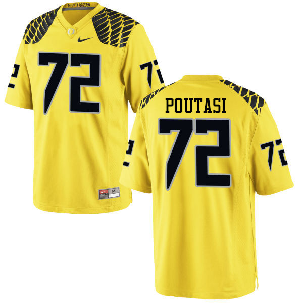 Men #72 Sam Poutasi Oregon Ducks College Football Jerseys-Yellow