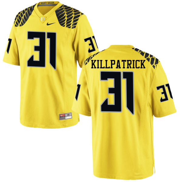 Men #31 Sean Killpatrick Oregon Ducks College Football Jerseys-Yellow
