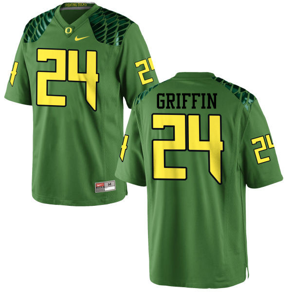 Men #24 Taj Griffin Oregon Ducks College Football Jerseys-Apple Green