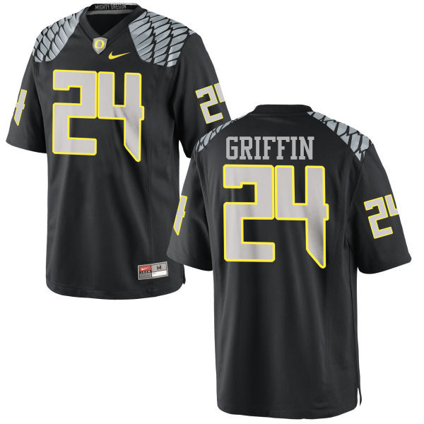 Men #24 Taj Griffin Oregon Ducks College Football Jerseys-Black