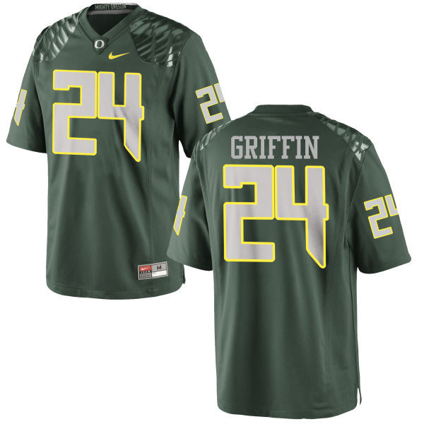 Men #24 Taj Griffin Oregon Ducks College Football Jerseys-Green