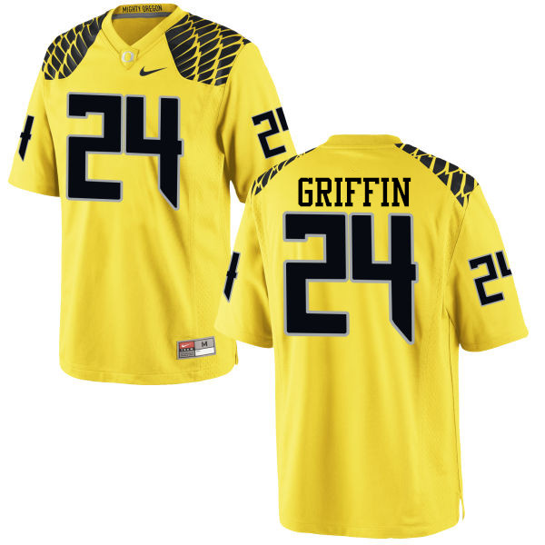 Men #24 Taj Griffin Oregon Ducks College Football Jerseys-Yellow